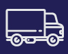 A white outline of a truck. Free shipping for orders in South Africa.